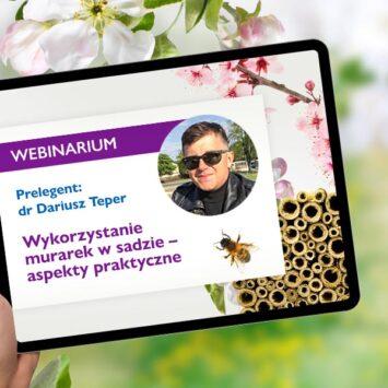 """Mali pomocnicy dla dużych plonów. Webinarium pt. """"Wykorzystanie murarek w sadzie – aspekty praktyczne"""" za nami"""