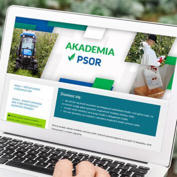 Platforma internetowa Akademia PSOR – praktyczne wskazówki dotyczące stosowania środków ochrony roślin